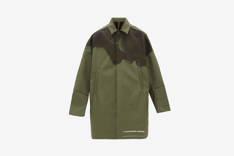 A Clockwork Orange-Print Technical Overcoat