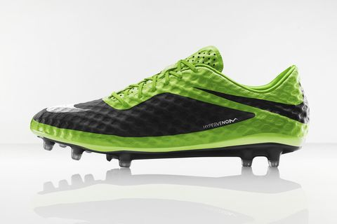 "aaad4b77c0f Zlatan Ibrahimovic officially revealed the new ""Flash Lime"" Nike Hypervenom  boot at an event in Paris. Engineered for the attacking striker"