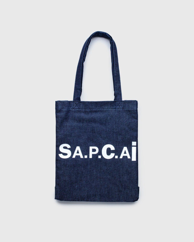 A.P.C. x Sacai — Tote Bag Holly Dark Navy - Image 1