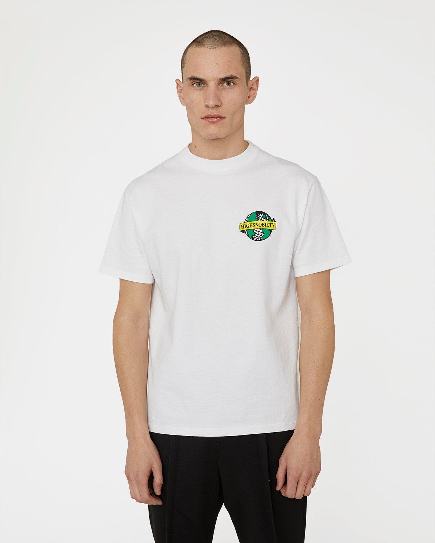 Highsnobiety x L'AS du FALLAFEL — rue des Rosiers T-Shirt White - Image 2