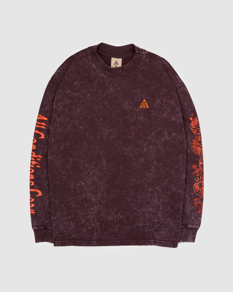 "Nike ACG ""Earth""  - Burgundy - Men's Longsleeve"