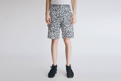 Leopard Denim Short
