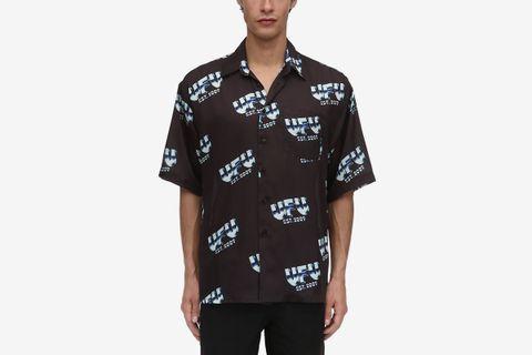 Metal digitally printed techno shirt, Black, Luisaviaroma