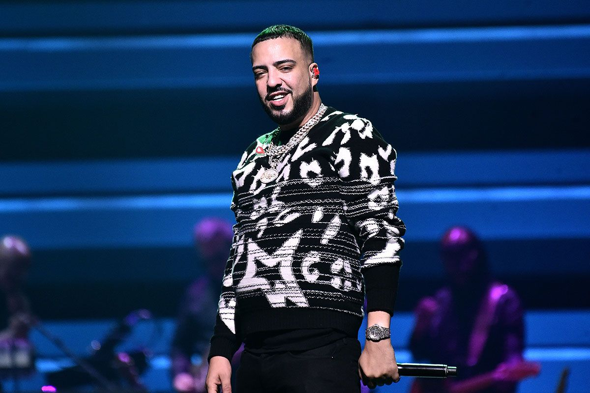 French Montana Performs on stage