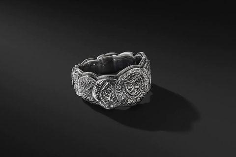 Shipwreck Coin Band Ring, 12mm