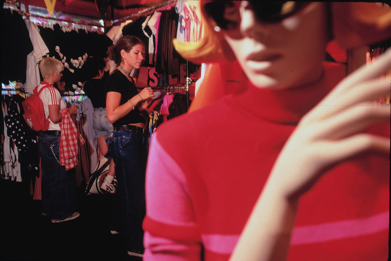 New York City: Shopping at Patricia Fields, 1995