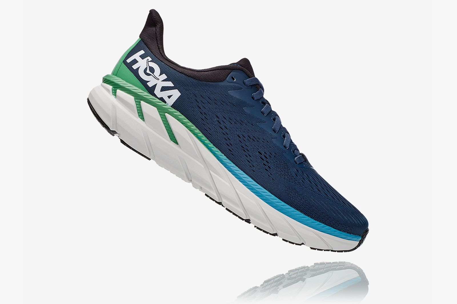 hoka one one clifton 7 product shots
