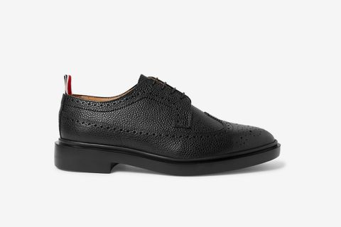 Pebble-Grain Leather Longwing Brogues