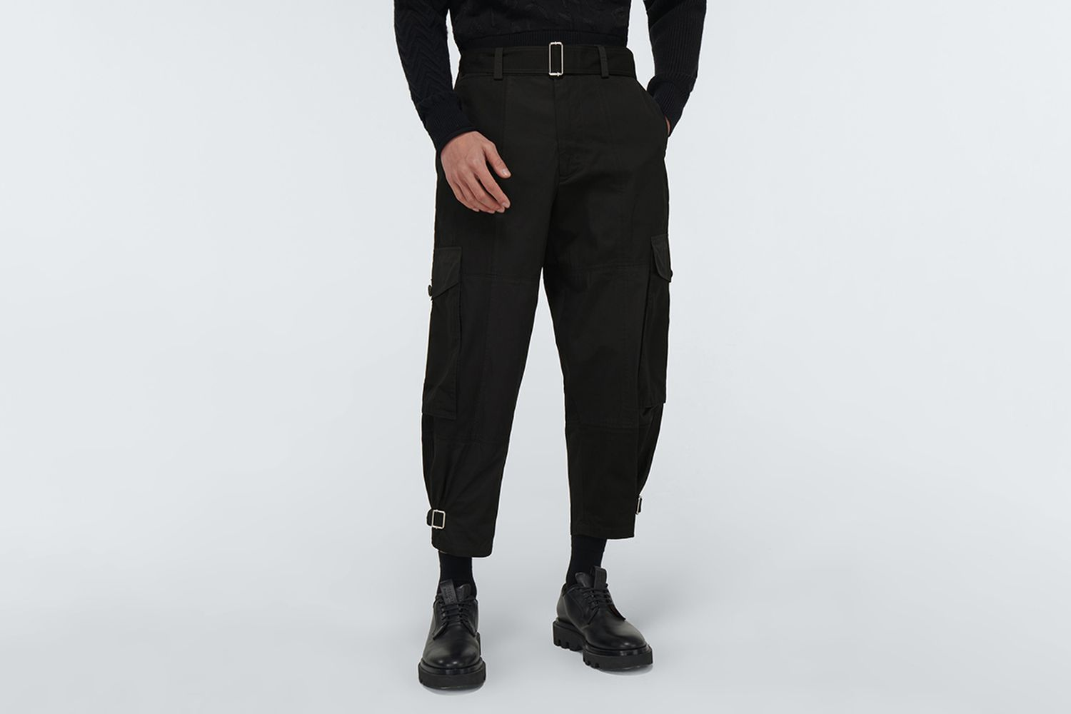 Tapered Cotton Cargo Pants
