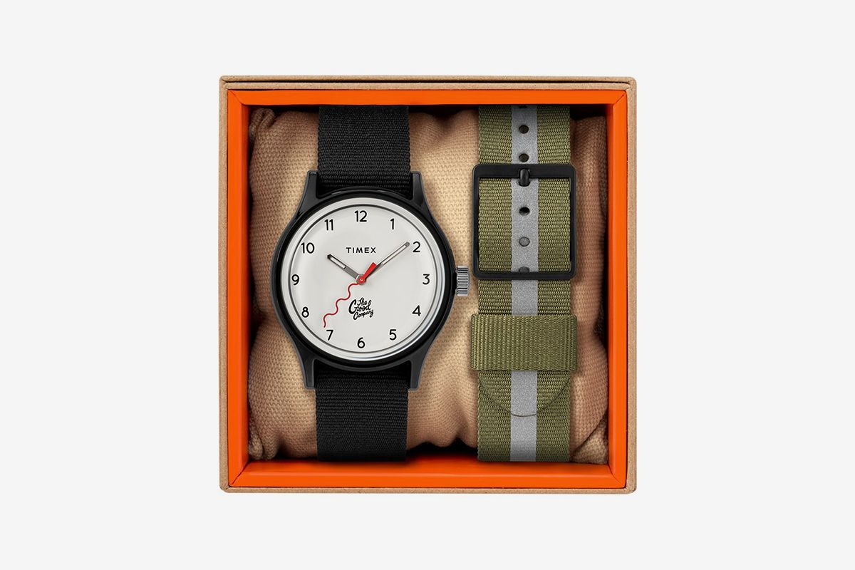 Mk1 36Mm Fabric Strap Watch With Extra Strap