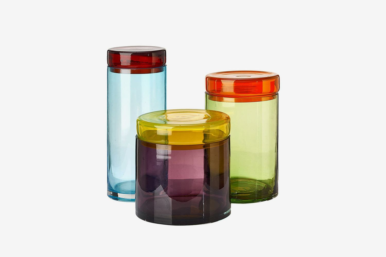 Caps & Jars Set of 3 Glass Containers