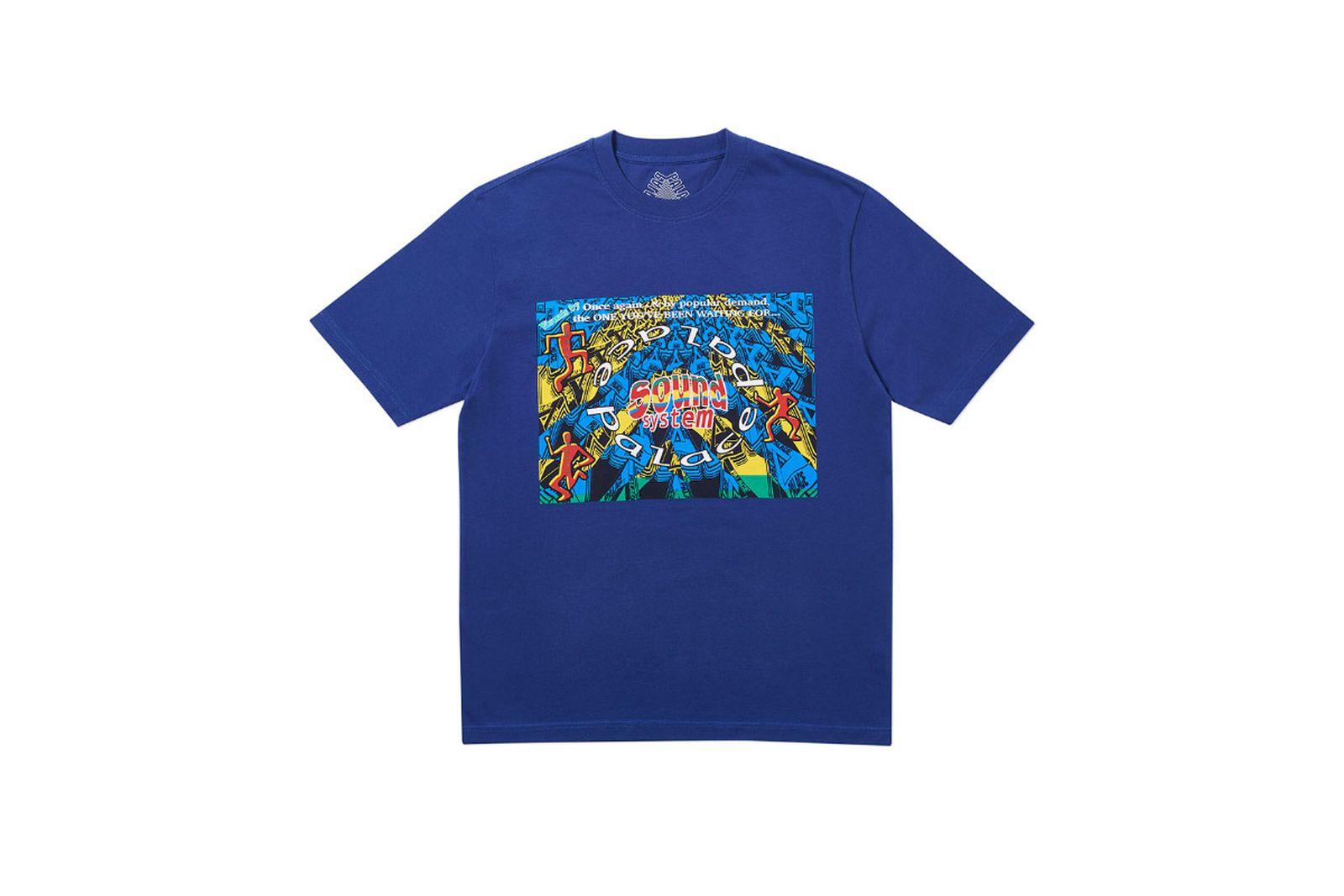 Palace 2019 Autumn T Shirt Sound Mate blue