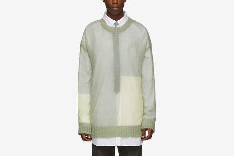 Open Knit Regular Fit Sweater