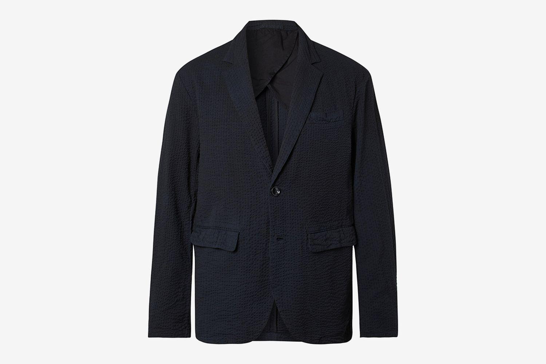 Unstructured Cotton-Seersucker Blazer