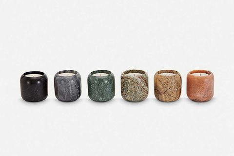 Materialism Stone Scented Candle Dift Set of Six