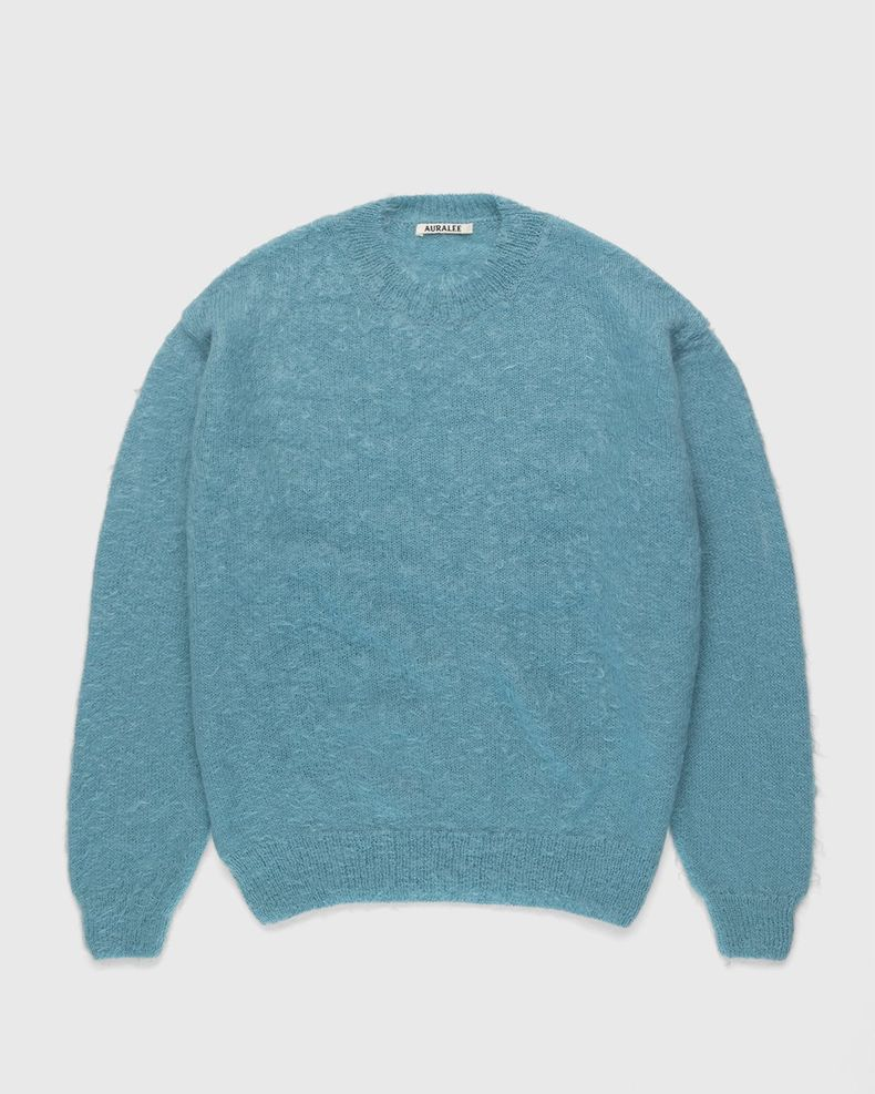 Auralee – Mohair Knit Blue