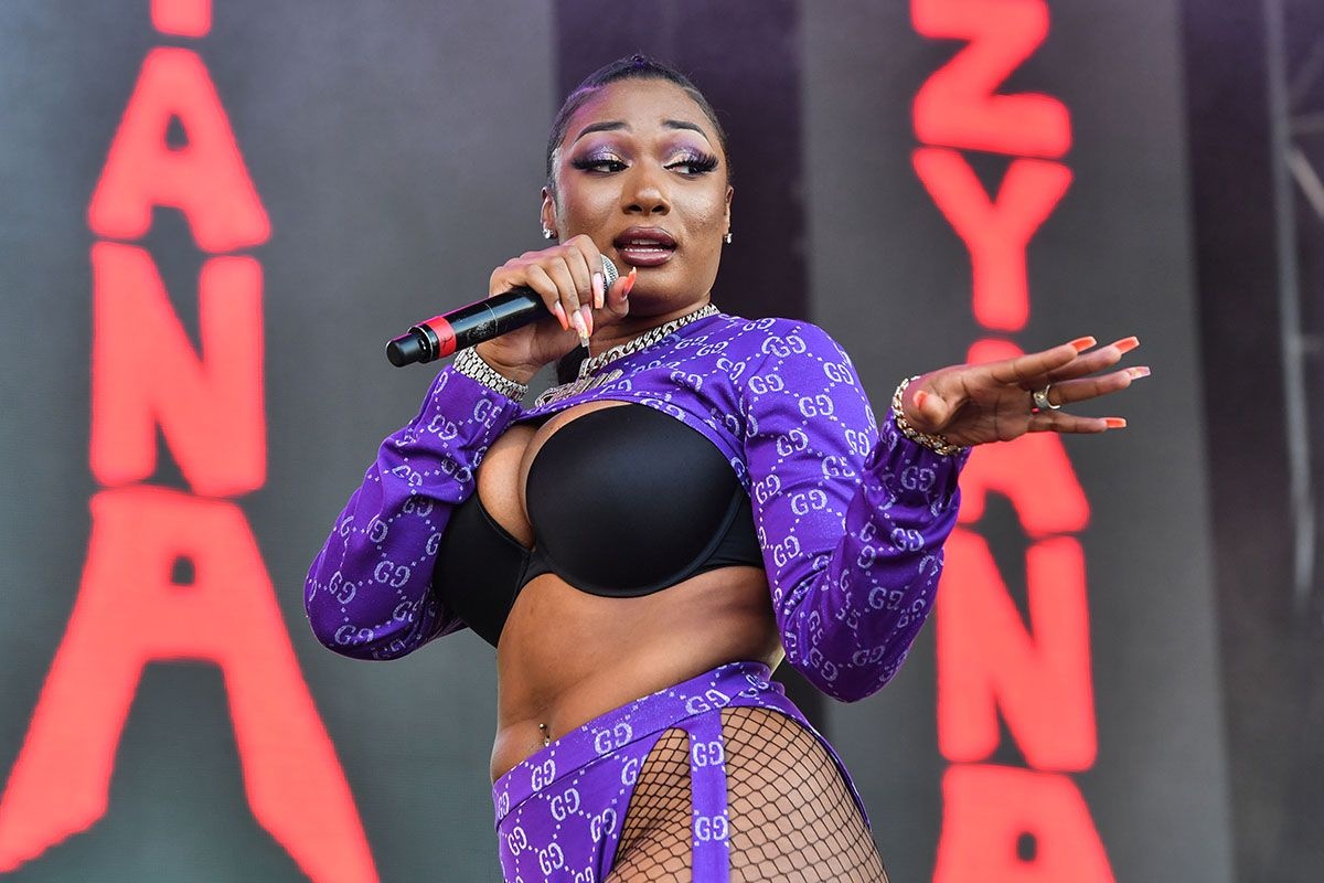 Megan Thee Stallion performs during Lil Weezyana 2019
