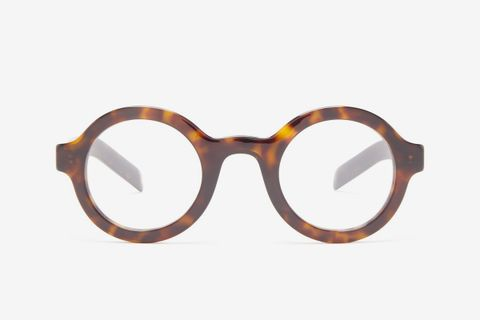 Round Tortoiseshell-Effect Acetate Glasses