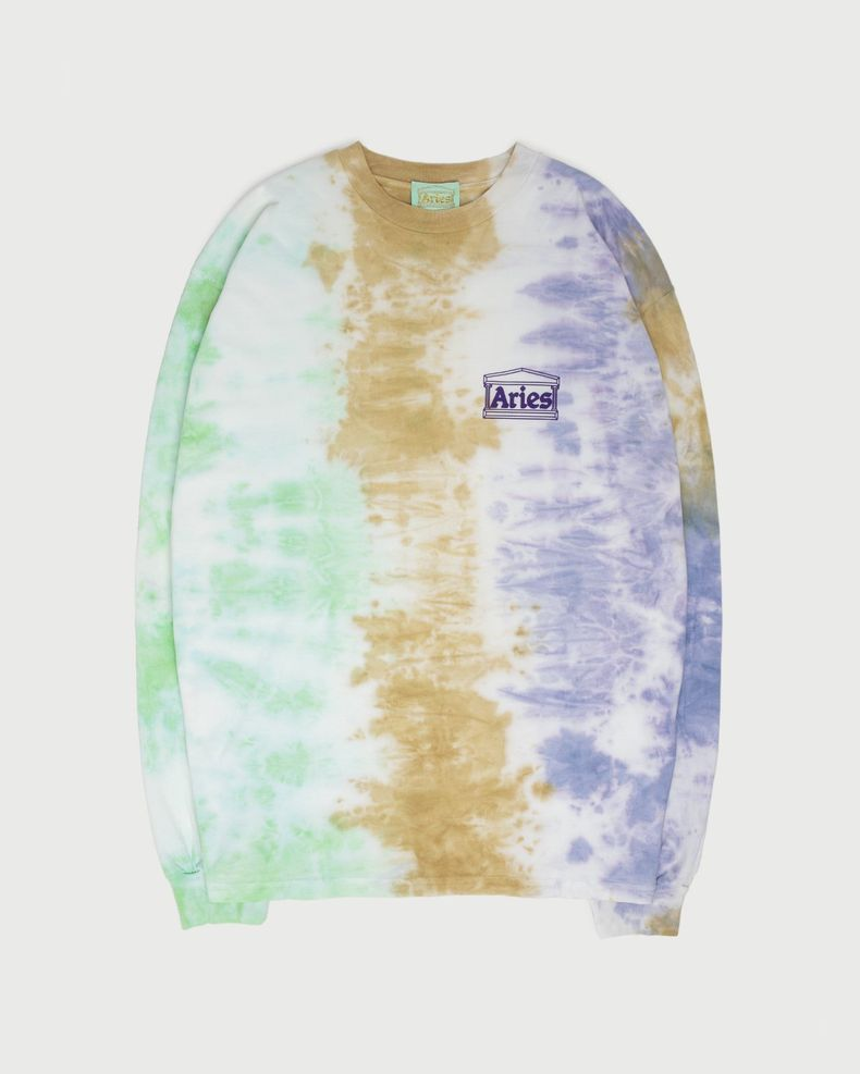 Aries — Ripple Tie Dye LS Tee Multicolor