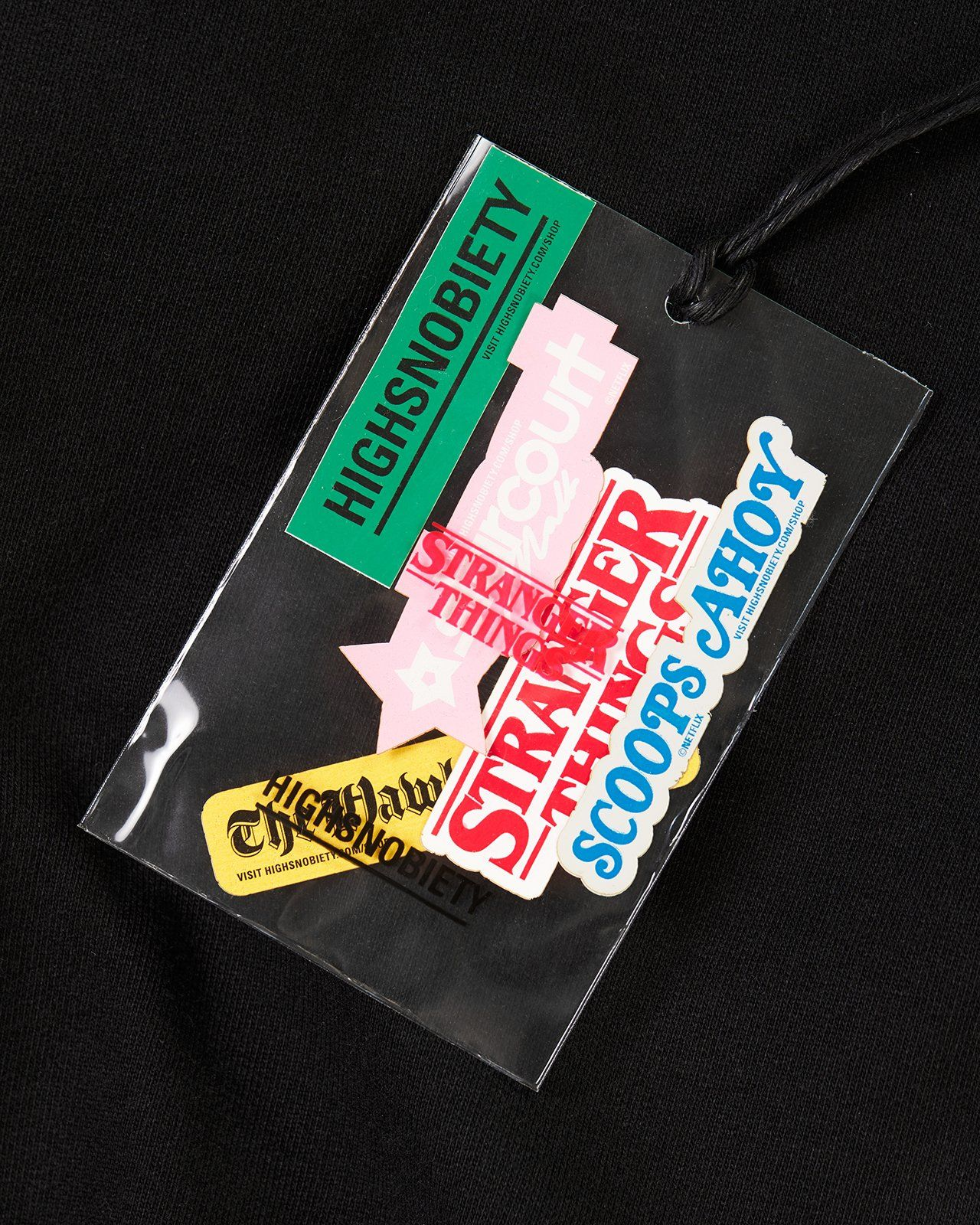 Stranger Things 3 x Highsnobiety Logo Hoodie - Black - Image 8