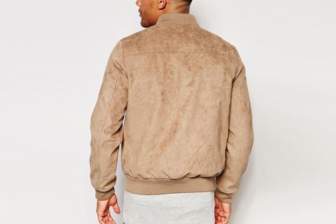 Faux Suede Bomber