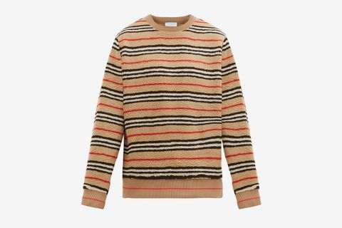 Edson Icon-Striped Fleece Sweater