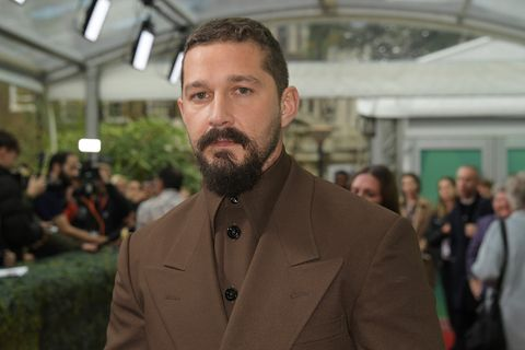 Shia LaBeouf red carpet brown suit