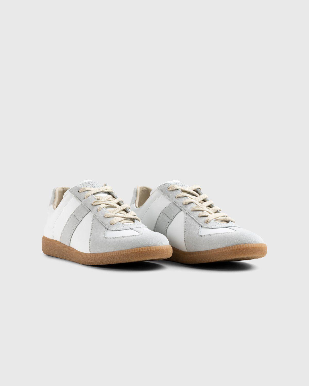 Maison Margiela — Calfskin Replica Sneakers Light Grey - Image 2