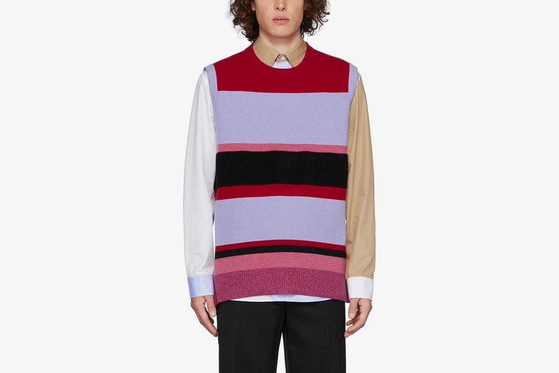 Wide Stripe Vest