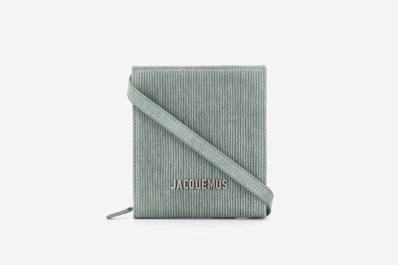 Logo-Lettering Striped Shoulder Bag