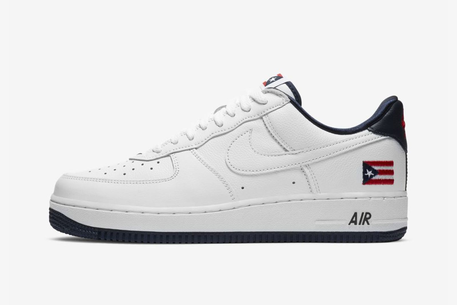white leather Puerto Rico Nike Air Force 1