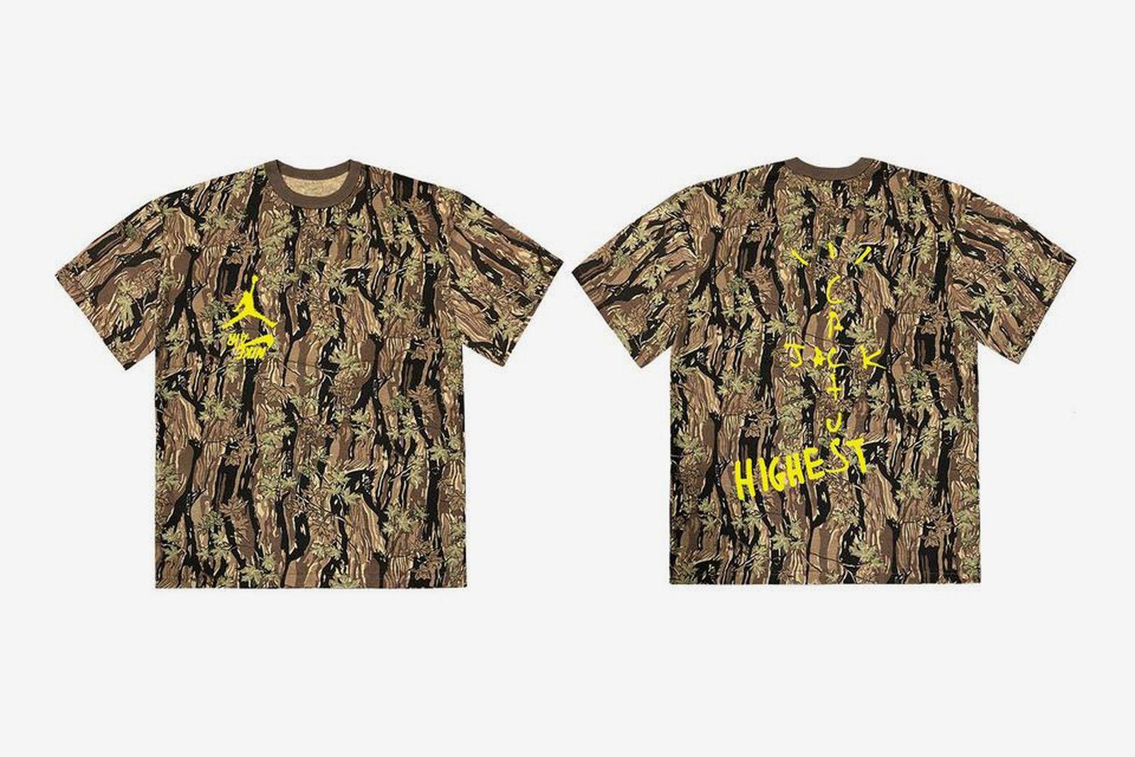 "Travis Scott Jordan Brand ""Highest in the Room"" camouflage T-shirt"