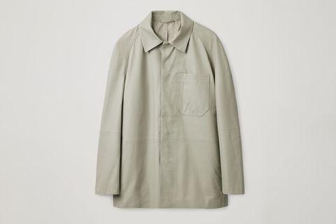 Raglan Sleeve Leather Jacket