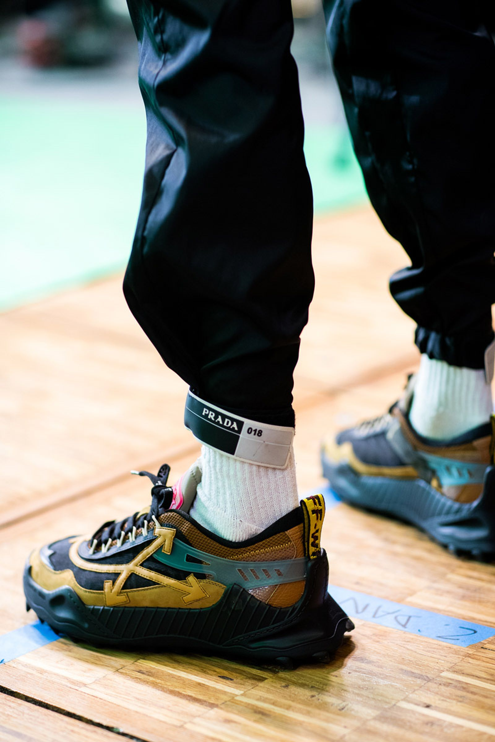 off white fw19 sneakers backstage look OFF-WHITE c/o Virgil Abloh pfw