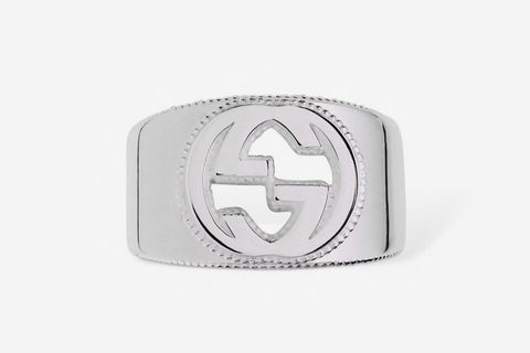 Interlocking G Silver Ring