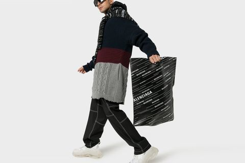 Leather Shopper Bag