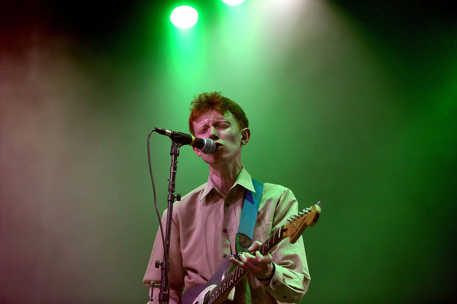 King Krule performs onstage during the 2018 Coachella festival