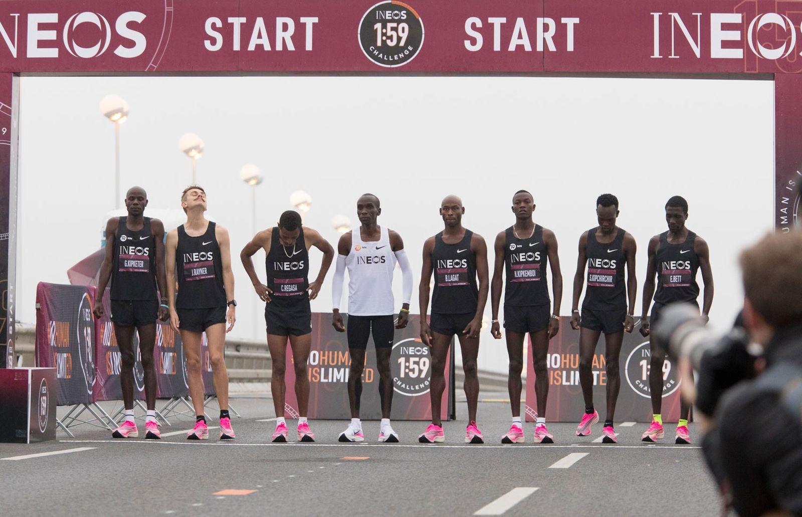 eliud kipchoge marathon record pictures Nike