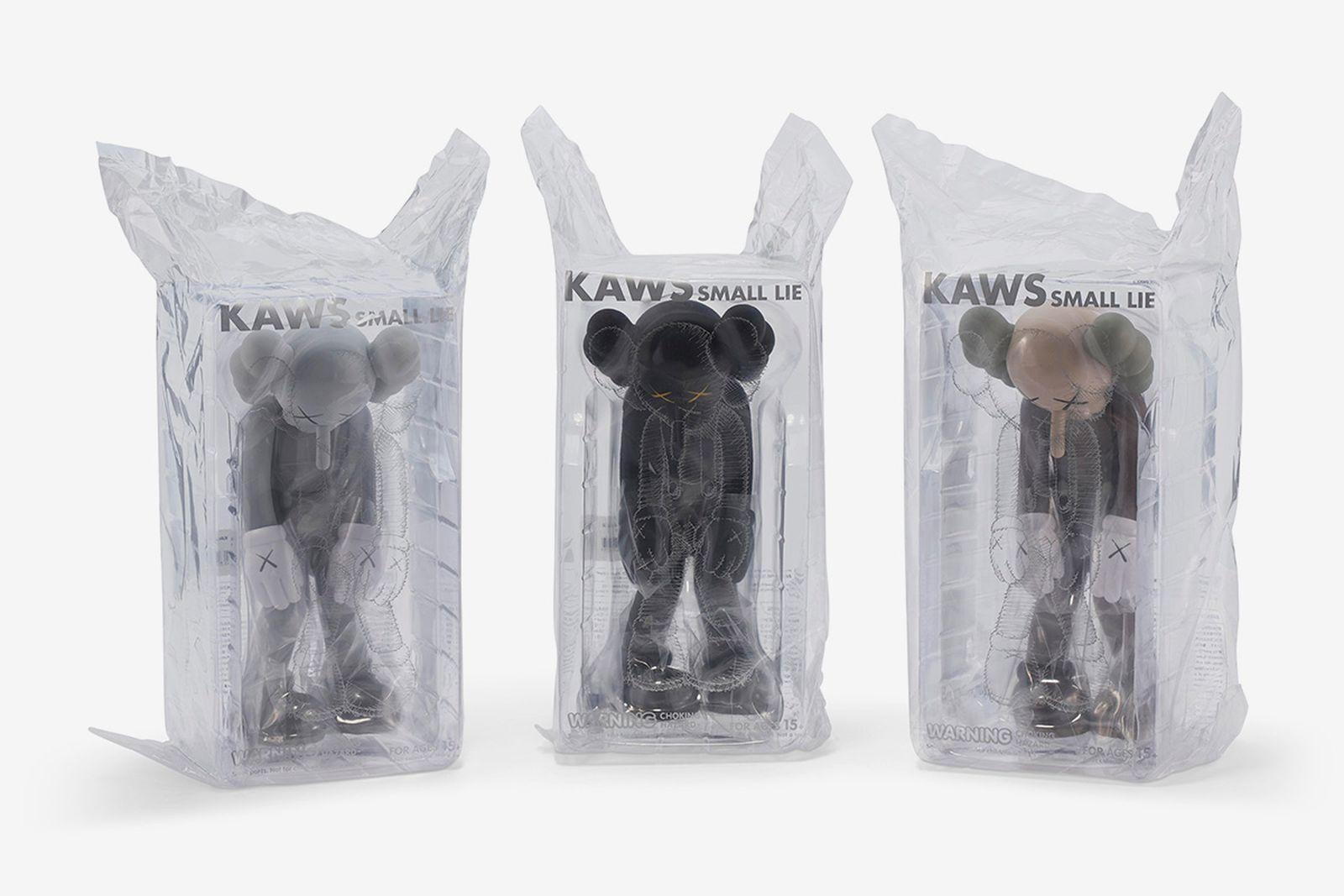 KAWS - Three works: (Small Lie Brown, Small Lie Black and Small Lie Gray)