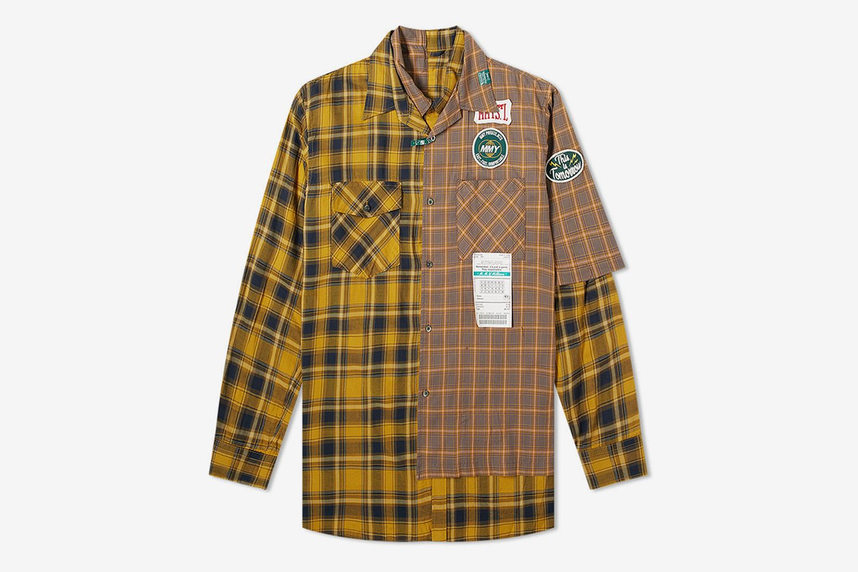 Layered Check Shirt