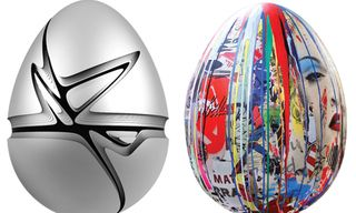 The Fabergé Big Egg Hunt featuring the works of Zaha Hadid, Mr. Brainwash & More
