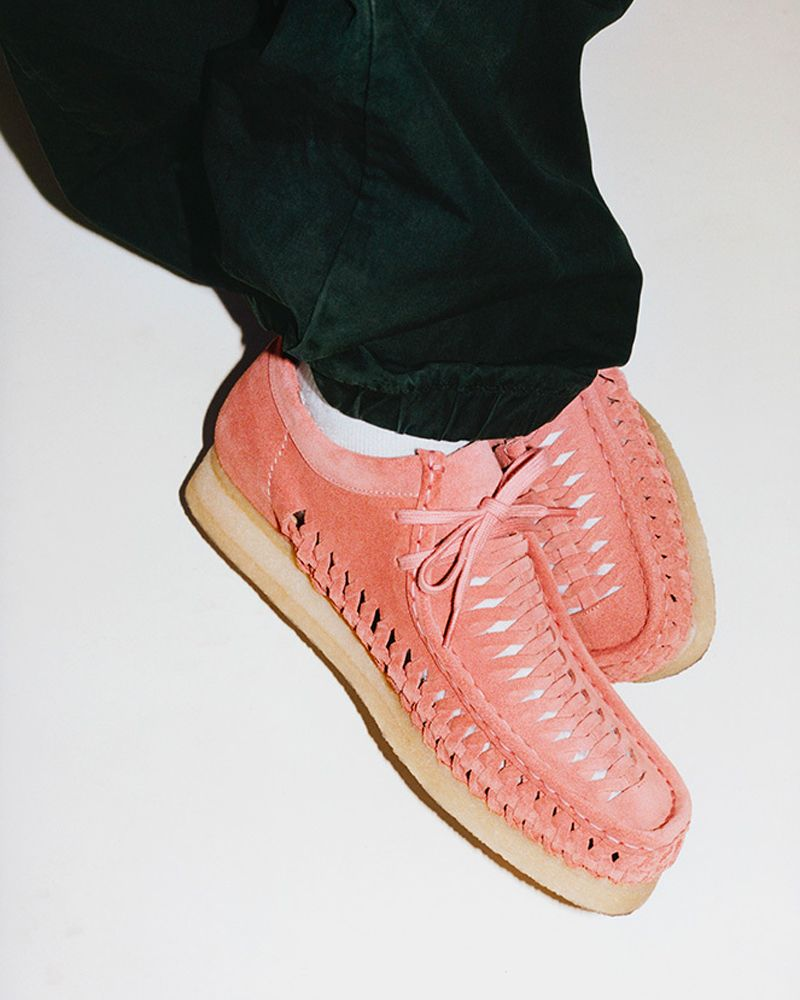 The New Supreme x Clarks Originals Woven Wallabee Has Fans Divided