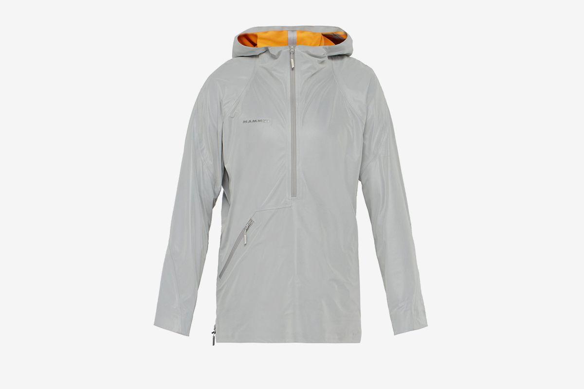 Reflective Half-Zip Hooded Jacket