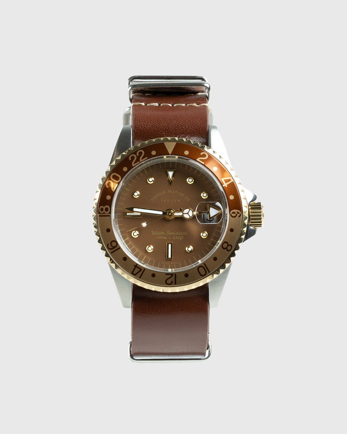 Vague Watch Co. – GMT Brown - Image 1