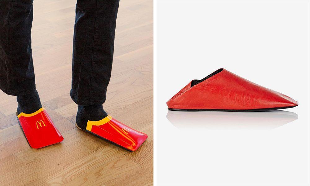 maestría Despedida Crítico  McDonald's Takes Shot at Balenciaga Over Fry Carton-Inspired Shoe