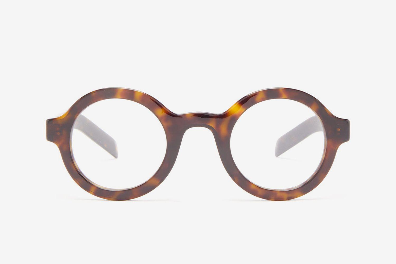 Round Tortoiseshell-Effect Acetate Glasses