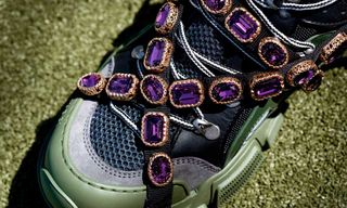 fc69fbc151c Gucci Debuts a Chunky Sneaker With Crystals   SEGA Lettering