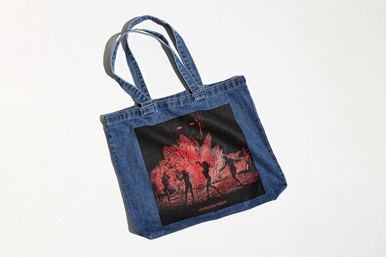 Post Modern Denim Tote Bag