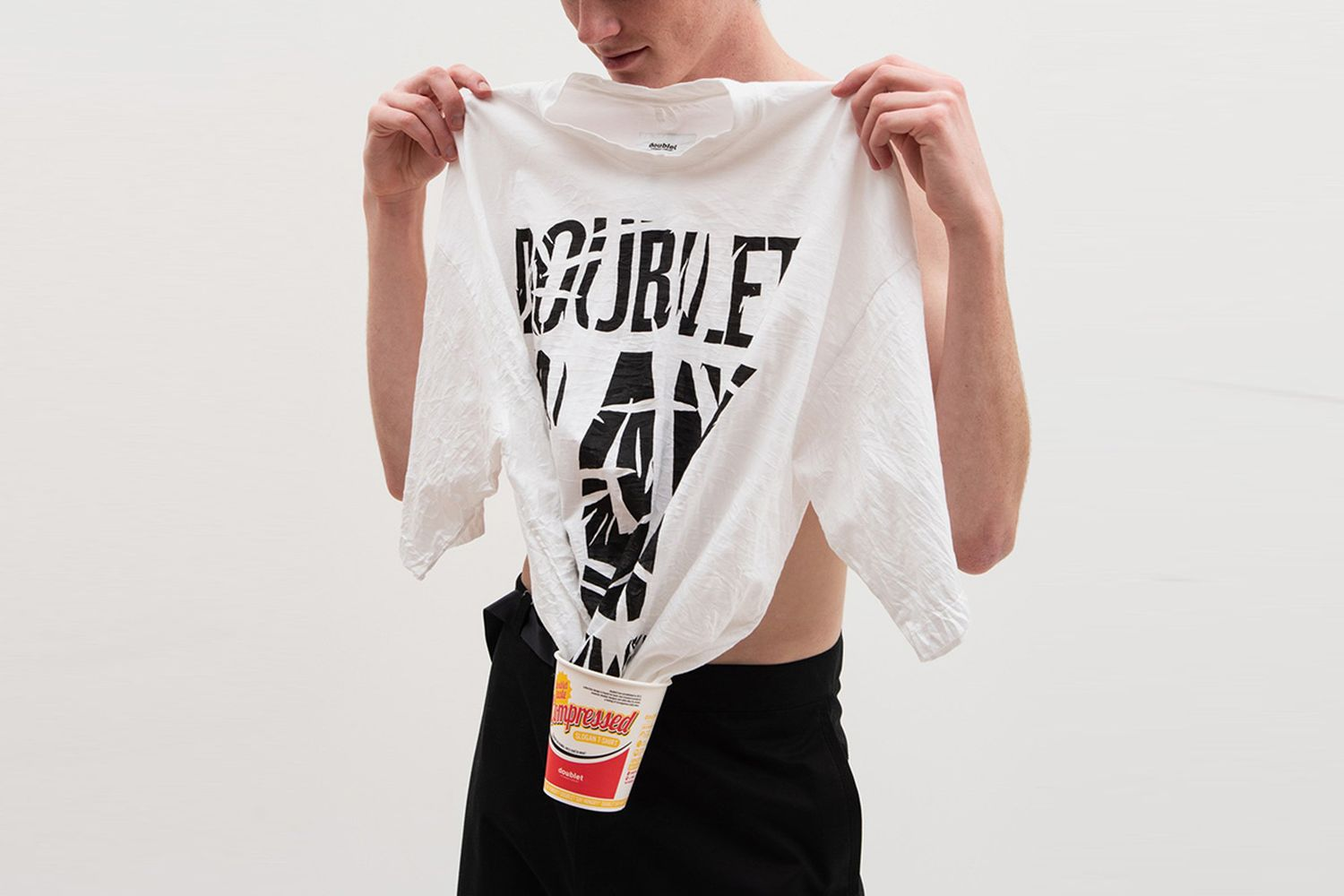 T-Shirt In Instant Noodle Cup