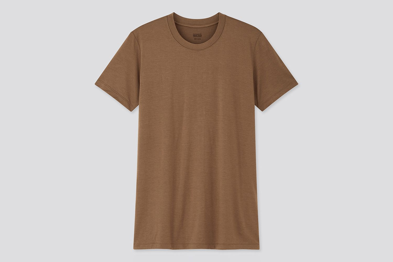 Heattech Crew Neck Short-Sleeve T-Shirt